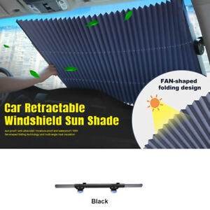 70cm Car Window Screen Sun Shade Retractable Cover Windshield Sunshade For Suv