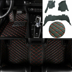 Black Red Floor Mats For Dodge Ram 2009 2018 1500 2500 3500 Full Set Waterproof
