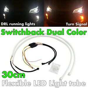 30cm Switchback Universal Rubber Led Drl Flexible Turn Signal For Sc Toyo Jp