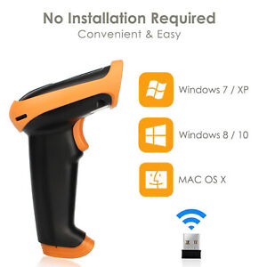Wireless Laser Barcode Scanner Long Range Bar Code Reader For Pos And Inventory
