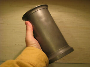 18th 19th Century French Pewter Litre Mug