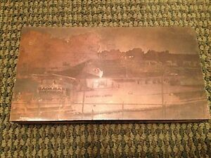 Vintage Train Railroad Museum Sumter Choctaw Ry Copper Print Plate Wood Block