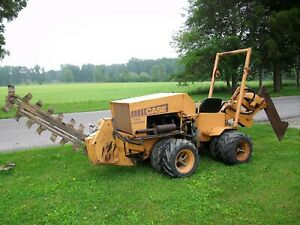 Case Maxi Sneaker Trencher Vibratory Cable Plow Diesel Engine Hydra Bore