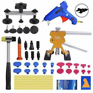 42pc Auto Body Dent Puller Paintless Dent Repair Pdr Tools Hail Removal Glue Gun