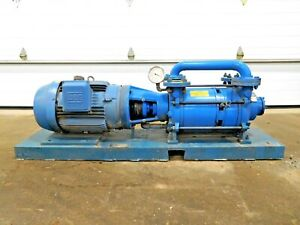 Mo 3058 Graham 3pv52200 10 dd Liquid Ring Vacuum Pump W 25 Hp Motor