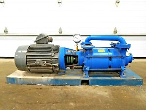 Mo 3059 Graham 2pv52200 13 dd Liquid Ring Vacuum Pump W 25 Hp Motor 15 Gpm