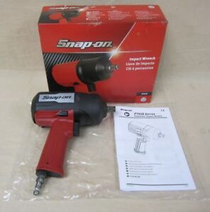 Snap on Pt650 1 2 Air Impact Wrench W Original Box Cover