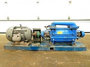 Mo 3060 Graham 1v52200 Xxx Liquid Ring Vacuum Pump W 25 Hp Motor 15 Gpm