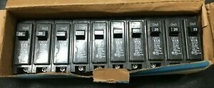 Box Of 10 Eaton Br120 Circuit Breakers Type Br 20 amp Single Pole