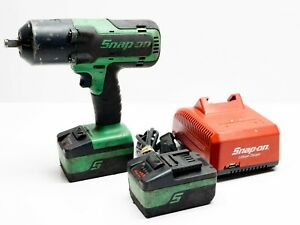 Snap On Ct7850g Cordless 1 2 Impact Wrench Green 2 Ctb8185g Batteries