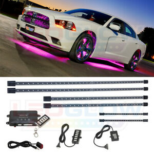Ledglow 6pc Pink Led Underglow Underbody Neon Lights Kit W 2pc Led Interior Kit