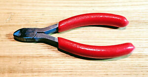 Snap On Tools 4 Mini Diagonal Cutting Cutter Pliers Red Soft Grip 184ccp