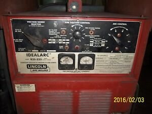 Lincoln Idealarc R33s 325 325 Amp Mig Welder With Ln7 Wire Feeder And Cart