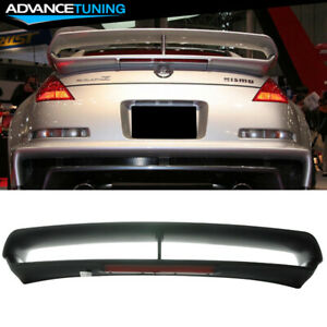 Fit For 03 08 Nissan 350z Nismo Rs Style Trunk Spoiler With 3rd Led Brake Abs