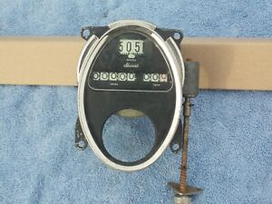 Vintage Stuwart Brass Era Speedometer Rat Rod 3 9 16th 5 1 16th Inch Hole Nos