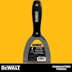 Dewalt Putty Knife 4 Carbon Steel Joint Knife Flexible Paint Scraper