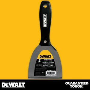 Dewalt Putty Knife 4 Stainless Steel Joint Knife Flexible Paint Scraper