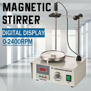 1000ml 85 2 Magnetic Stirrer With Heating Plate Digital Hotplate Mixer Stir Bar