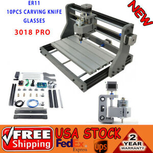3 Axis Cnc Router Laser Engraving Machine Wood Carving Diy Milling Kit 300x180mm