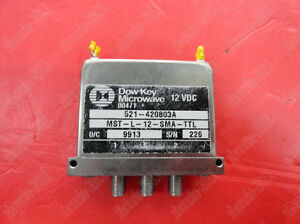 1pc Used Dow key Mst l 12 sma ttl Dc 18ghz Spdt Rf Switch 12v