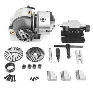 Bs 0 5 Indexing Dividing Spiral Head 3 jaw Chuck Tailstock Cnc Milling Kit New