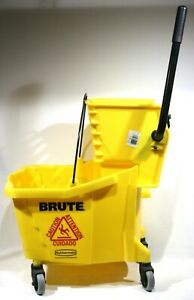 Brute Rubbermaid Commercial 8 Gallon Mop Bucket And Wringer 7570 7580 Perfect