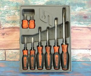 Snap On 8 Pc Soft Grip Combination Screwdriver Mechanic Hand Tool Set Pakty067