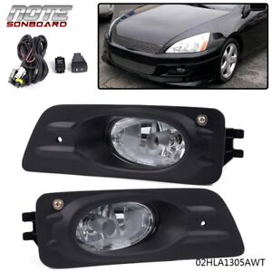 For 2006 2007 Honda Accord 4d Driving Clear Lens Fog Lights Bumper Lamps switch