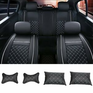 Universal Pu Leather 5 Seats Suv Front Rear Full Car Seat Cover Cushion Set