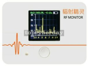 Handheld Rf Monitor Frequency Spectrometer Simple Spectrum Analyzer White
