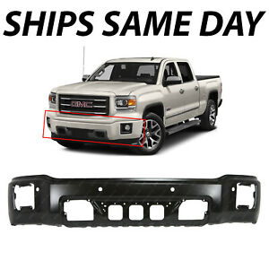 New Primered Front Bumper Face Bar For 2014 2015 Gmc Sierra W Park