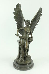 Winged Angel Victory Nike Victoria Louvre Art Sculpture Statue By Auguste Moreau