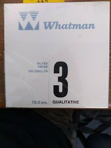Whatman 3 Qualitative Filter Papers 15 0cm 100 Filters