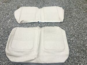 New Distinctive Ind Ford 1967 Mustang Back Seat Upholstery Parchment