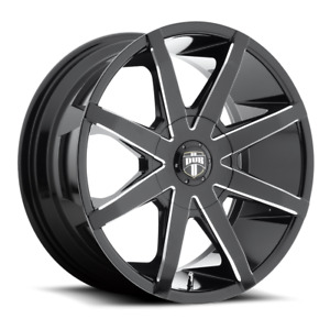 Set Of 4 22x9 5 Et 30 Dub S109 Push Black Milled Wheels 6x135 Expedition