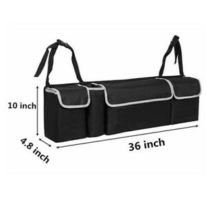 Parts Accessories Black High Capacity Multi Use Car Seat Back Organizers Bag