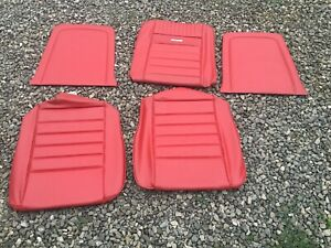 New Ford 1965 Mustang Front Seat Upholstery Red Distinctive Ind
