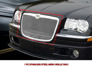Stainless Steel Mesh Grille Grill Upper For Chrysler 300 300c 2005 2010