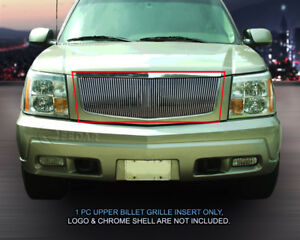 Billet Grille Front Upper Grill Vertical Fits 2002 2006 Cadillac Escalade
