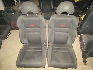 2006 2011 Honda Civic Si Coupe Front Cloth Bucket Seats Rh Lh Oem