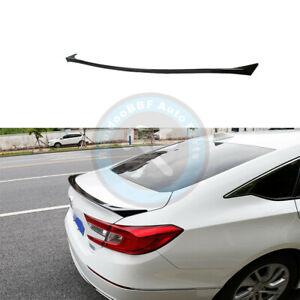 Painted Black Rear Tail Trunk Lip Spoiler Wing Fit For Honda Accord 2018 2020