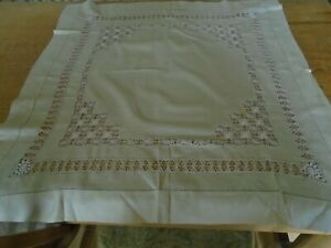 Vintage Pure Silk Tablecloth Hand Embroidered Using Silk Threads