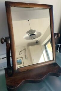 Victorian Dressing Table Swing Mirror Vintage Antique Mahogany