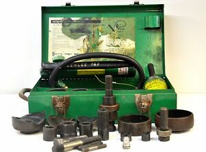 greenlee 7646 Hydraulic Knockout Punch Driver Set W Hydraulic Ram 767