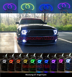 Cotton Rgb Led Angel Eyes Halo Rings Drl For Ford Mustang Non Projector 2010 13