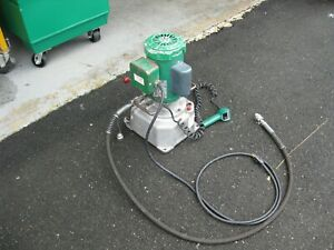 Greenlee 960 Electric Hydraulic Pump Rated 10 000 Psi