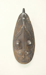 Papua New Guinea Mask Kandingai Village Conus Shells Ceremonial Mask