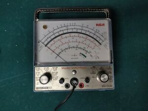 Rca Wv 510a Master Voltohmyst Analog Multimeter With Probe