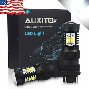 2x Auxito 3157 3156 14k Led Backup Reverse White 2800lm Light Bulbs For Gmc Ford