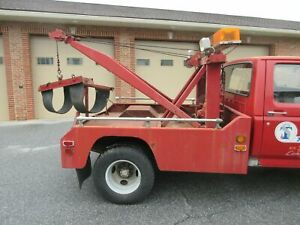 Vintage No mar Wrecker Body Without 1980 Ford E350 Dual Rear Wheel Tow Truck